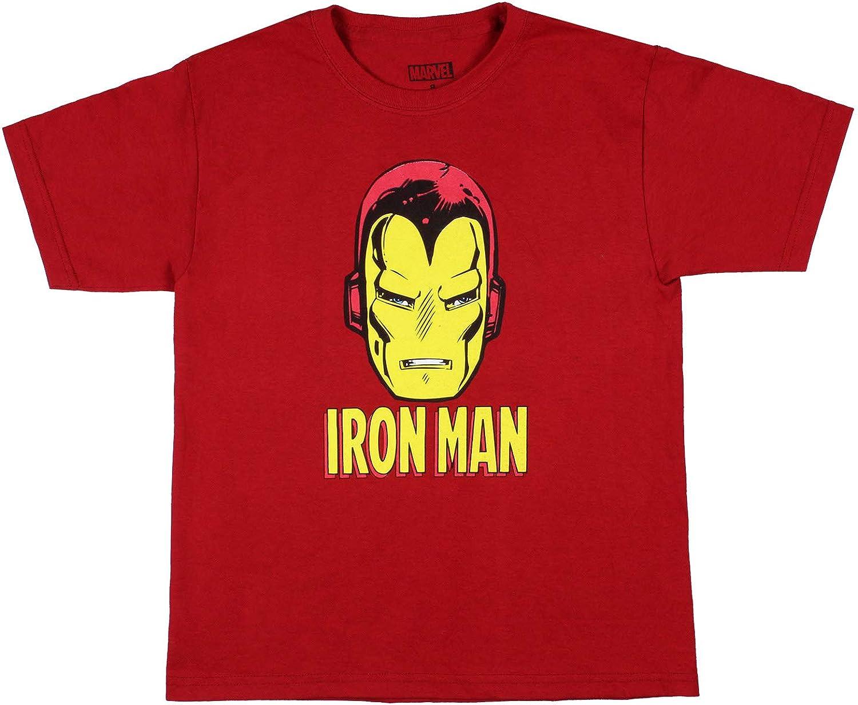 Marvel Boys Iron Man Big Face Superhero T-Shirt