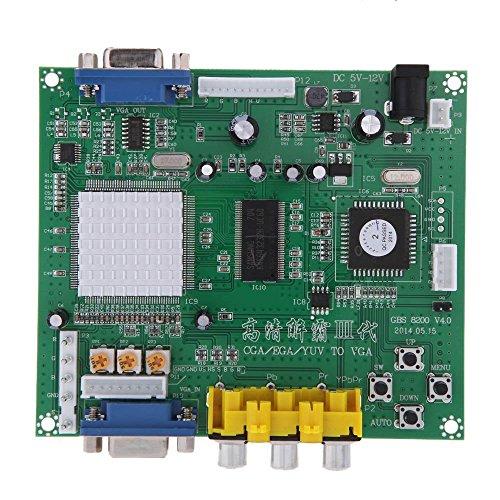 Kaxofang GBS8200 1 Canal Rele Modulo Junta CGA/EGA/YUV/RGB a VGA Juego de Arcade Video Converter para CRT Monitor LCD Monitor PDP Monitor