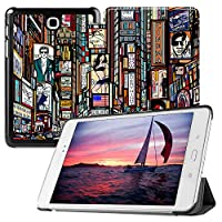 MAITTAO Slim Smart Case For Galaxy Tab A 8.0 T350 P350, Leather Stand Folio Case Cover with Auto Sleep/Wake For 2015 Samsung Galaxy Tab A 8.0 Inch Tablet (SM-T350/T355/P350/P355), Graffiti Wall 5
