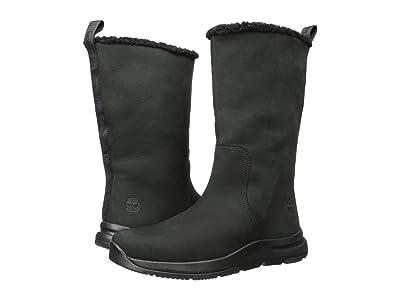 Timberland Mabel Town Pull-On Waterproof Boot (Black Nubuck) Women