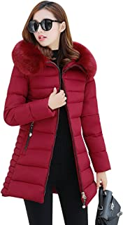 09bbeb4c NiSeng Mujer Abrigo Chaqueta Slim Fit Espesar Pelaje Collar Parka Con  Capucha Manga Larga Chaquetas Outerwear