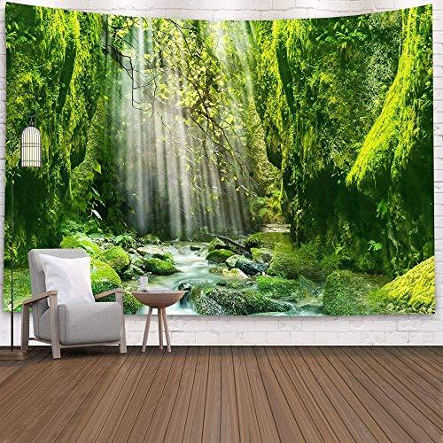 Bubunix Tapisserie Wandbehang Schlafzimmer Wohnzimmer Hänge Universum Sternenhimmel Wandteppich Milchstraße Raum Psychedelic Nebel Kopfteil Tagesdecke Tischdecke (Style 11)