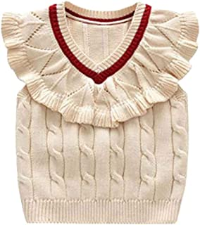 Macondoo Mens Knitted Cardigan Casual Solid Comfy Sweater Vest