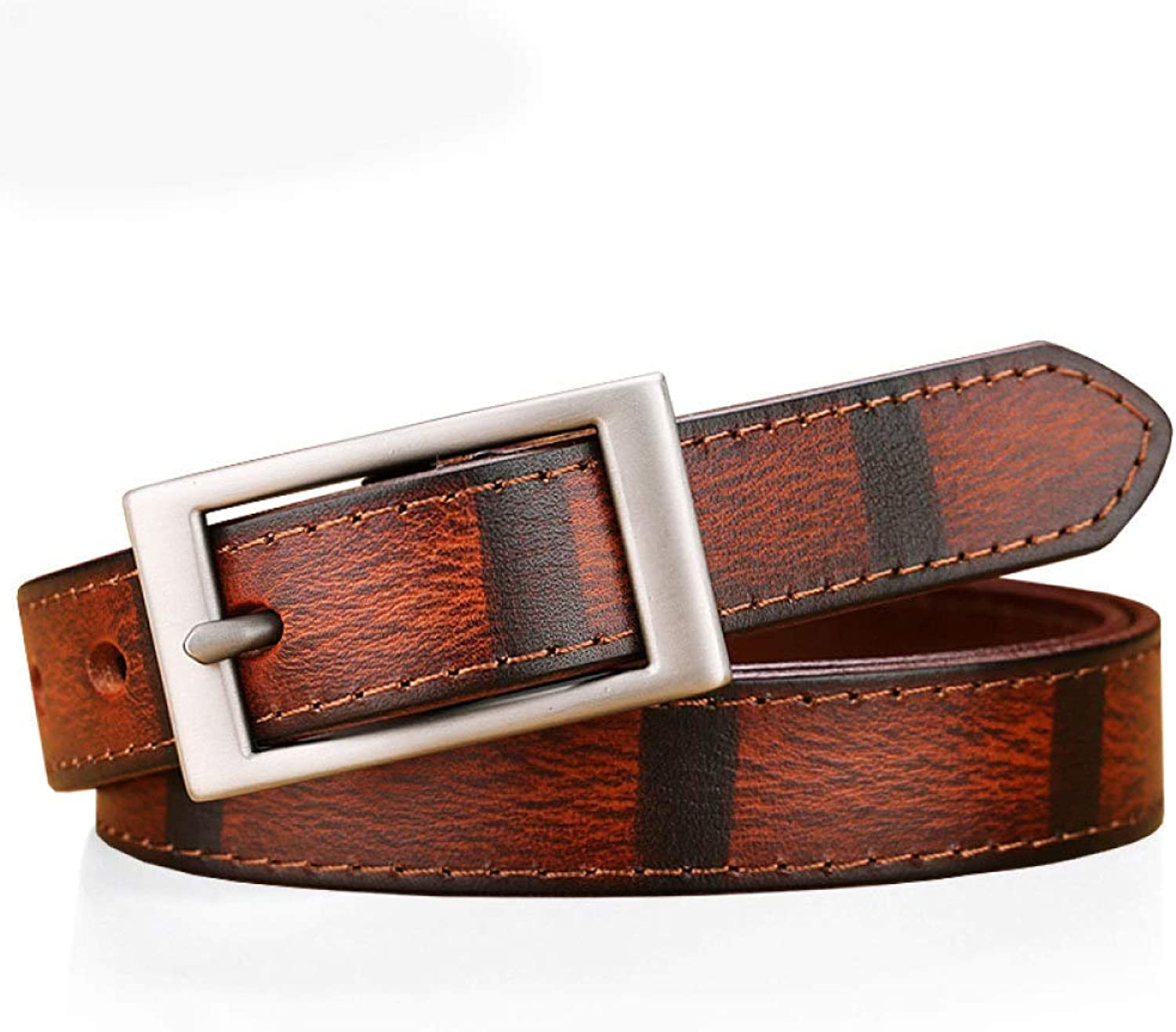 Leather Belt for WomensCowhide Decorative Waist Belt with Buckle