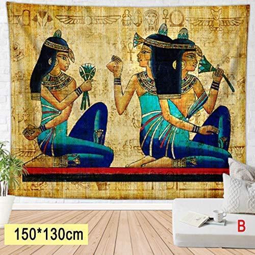 Juntful bedrukte decoratieve tapijt oude Egyptische serie tapijt achtergrond muur opknoping strand handdoek deken huis Art Decor