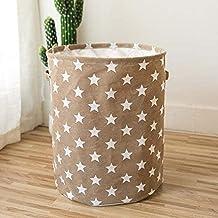 KONGUDSI Laundry Basket Sorter Storage Basket Folding Laundry Basket Sorter Star Storage Basket Large Waterproof Linen Household (Color : Coffee)