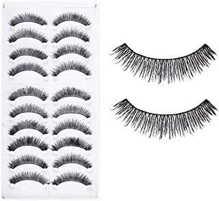 Electomania® 10 Pairs Makeup Beauty False Eyelashes Eye Lashes Extension Long Thick