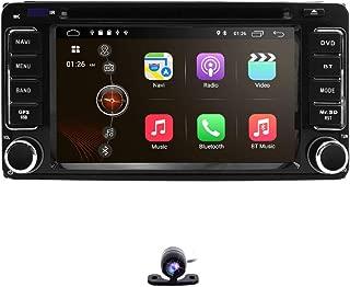 hizpo 6.2 Inch 2 Din Car Navigation Android 9.0 Touch Screen DVD Player AM FM Radio Fit f or Toyota RAV4 Corolla Camry Tundra 4Runner Previa Highlander Yaris Prado Hilux+ Reversing Backup Camera