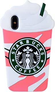 "FunTeens Coffee Cup Pink Case for iPhone XR 6.1"",3D Cartoon Animal Character Funny Fun Design Cute Soft Silicone Kawaii Cover,Cool Protective Unique Shockproof Cases for Kids Boys Girls Teens(iPhoneXR"