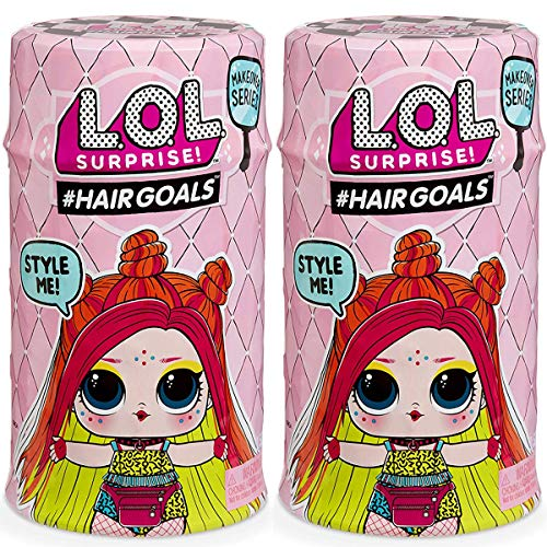 GIOCHI Pack 2 Bolas Surprise HairGoals Makeover Wave 2 LOL