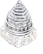 Saubhagya Global 100% Pure Sphatik Shree Yantra Lab Certified (16-25 GMS) Sphatik Shree Yantra (Religious Item)