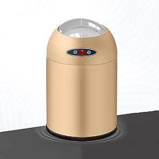 trash can kitchen يمكن أن القمامة القابلة لإعادة الشحن المنزلية يمكن أن تكون القمامة التعريفي الذكي مستدير القمامة المعدني...