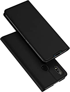 Custodia® Ultra Thin PU TPU Flip Case with Card Slot and Stand Function for OPPO Realme 3(Black)