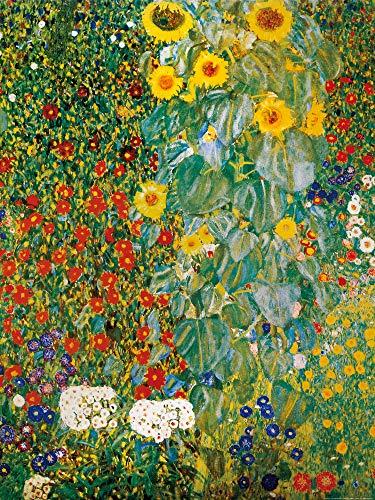 1art1 Gustav Klimt - Bauerngarten Mit Sonnenblumen, 1905-06 Poster Kunstdruck 80 x 60 cm