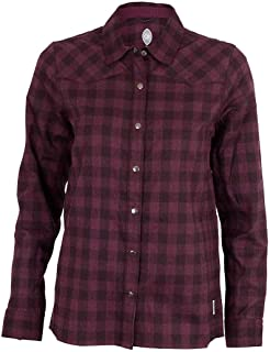 Club Ride Liv'n Flannel Biking Jersey, Long Sleeve Cycling Shirt, Under Arm Vents, Moisture Wicking Fabric (Plum, X-Small)