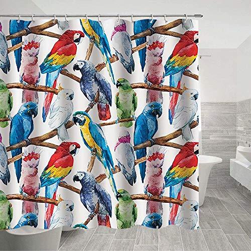 Parrot Shower Curtain C