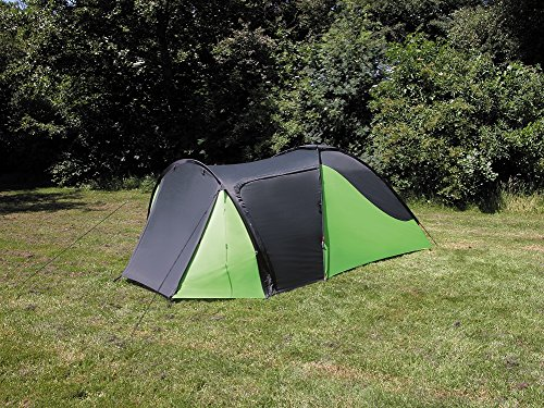 Eurotrail Support Whitney Camping tente 3 personnes – Gris anthracite – Vert