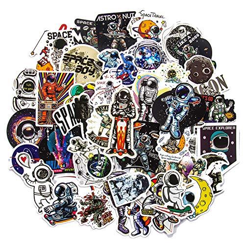 DSSJ 50 Pegatinas de Dibujos Animados de la estación Espacial de astronautas Cohete Luna Universo Trolley Ordenador Guitarra Graffiti Pegatinas