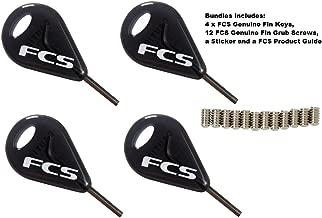 FCS Surfboard Fin Key and FCS Fins Grub Screw Bundle