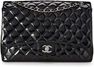 7abc5acd158a CHANEL Black Quilted Patent Leather Classic Flap Maxi (Pre-Owned)