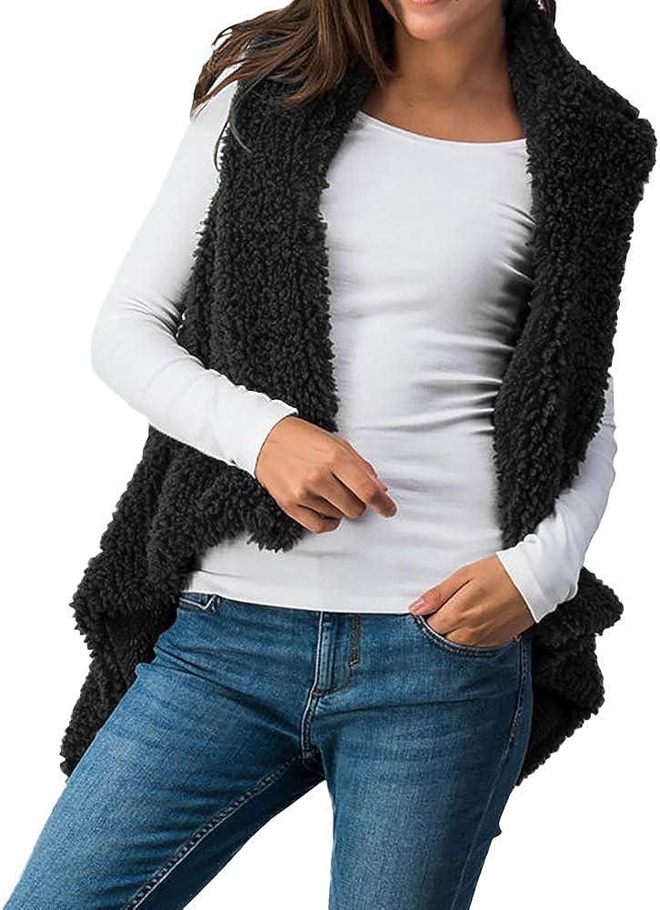 diffstyle Women Winter Vest Lady Soft Fluffy Faux Fur Sheer Coat Outerwear Sleeveless Warm Vest Gilet Waistcoat