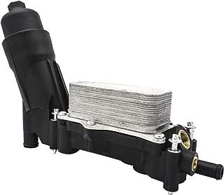 Oil Filter Cooling Housing Assembly Fit for 2014-2017 Chrysler Dodge Jeep 3.6L V6 Pentastar, Replace # 68105583AF 68105583AE