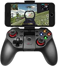 Upgraded Mobile Game Controller, Wireless Bluetooth Gamepad Joystick Multimedia Game Controller Compatible with iOS Android iPhone iPad Other Phone Windows PC, Perfect for The Most Games