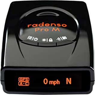 Radenso Pro M Radar Detector with Reduced False Alerts, USA Technical Support, GPS Lockouts, Red Light and Speed Camera Al...