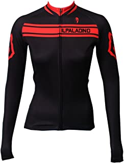 ILPALADINO Women's Cycling Jersey Long Sleeve Biking Shirts Breathable Quick Dry