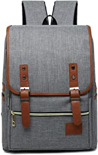 CHENDX Handbags Fashion Casual Men and Women Couple Backpack Personality Vintage Canvas Travel Bag (Color : Gray, Size : 42cm*29cm*11cm)