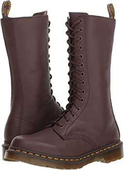 470dffa6cef7 Dr martens alix 10 eye zip boot off polished smooth