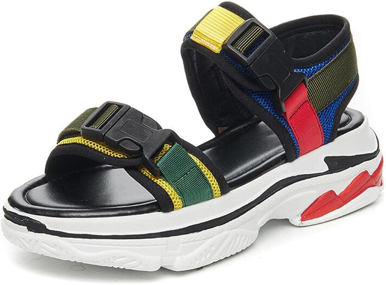 CJC Sandals Ladies Women's Peep Toe Sport shoes Wedge Heel heigh 4.5cm