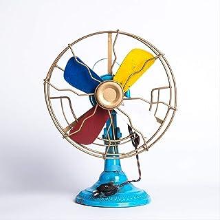GIAO Figurines Adornos Figurines Decoración Fotografía Personalizada Atrezzo Vintage Ventilador eléctrico Versión en Color Hecho a Mano Modelo de Metal Moda Decoración para el hogar