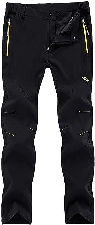 Freiesoldaten  Men's Outdoor Cargo Pants Windproof Waterproof Softshell Trousers, 4XL: waist 36.6 inches-38.6 inches, Thin Black