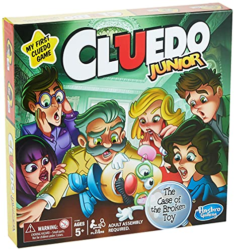 Clue Junior Board Game for Kids Ages 5 and Up, Case of the Broken Toy,...