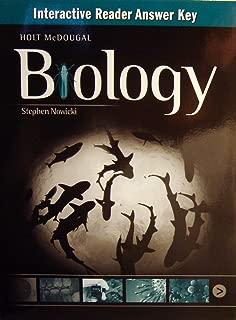 Holt McDougal Biology: Interactive Reader Answer Key