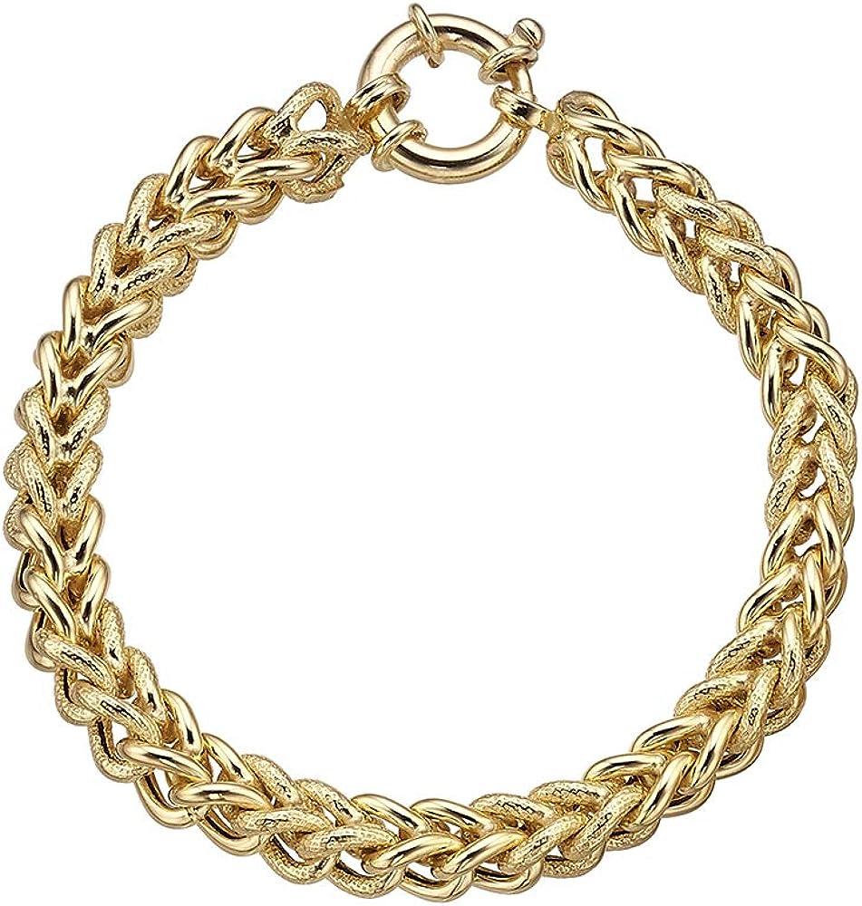 Duran exquse bracciale unisex collezione links, in argento 925 placcato oro giallo
