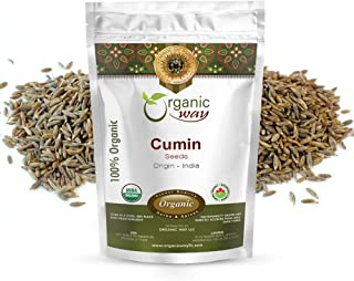 Organic Way Premium Cumin/Jeera Seeds Whole (Cuminum cyminum) - Adds Flavour & Aroma | Organic & Kosher Certified | Raw, V...