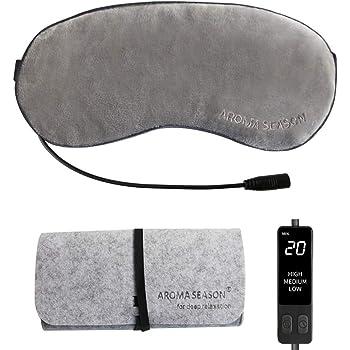 AROMA SEASON USB電熱式ホットアイマスク カバー洗える 繰り返し 温度とタイマー調節可能 日本語取扱説明書 旅行や出張中の最適 父の日ギフト 誕生日プレゼント ギフトケース(グレー)
