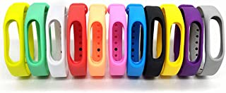 Colorsheng 11 Pieces Colorful Replacement Bands for Go-tcha, Xiaomi Mi 2 Tracker Smart Bracelet
