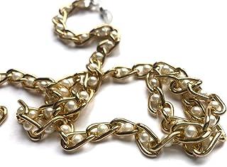 DOCE.MEX   Cadena para lentes con argollas doradas y perlas