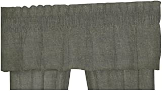 Patch Magic Green Solid Chambray Fabric Curtain Valance, 54-Inch by 16-Inch