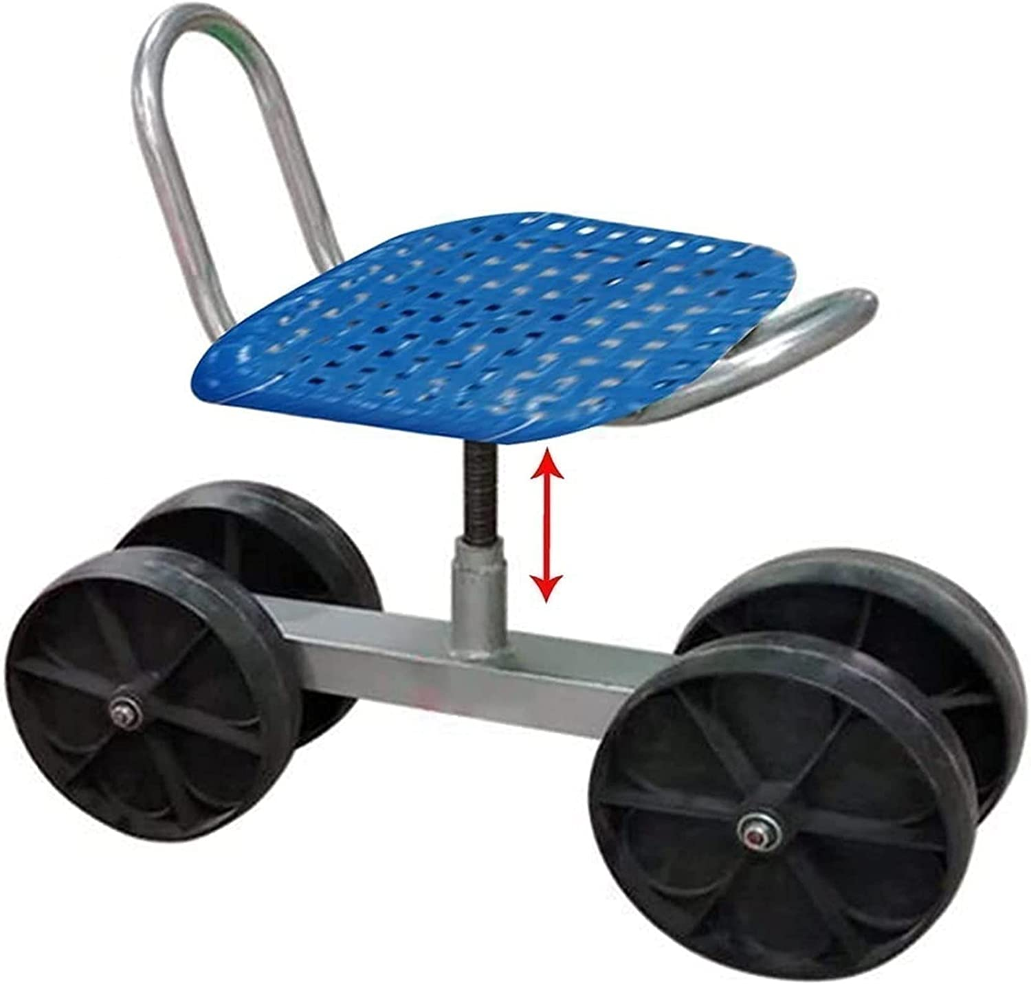 Garden Cart Rolling Scooter with Seat Heavy Department store Duty Ga unisex