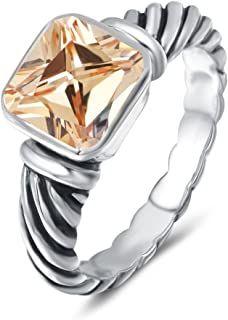Ring Antique Twisted Cable Wire Femme Designer Inspired Fashion Brand David Women Jewelry Gifts