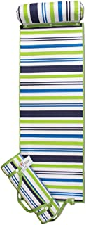 ADI American Dawn Outdoor Living Rolled Beach Mat, Blue/Green Stripe