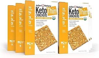 Julian Bakery Keto Thin Crackers   Organic Cheddar   USDA Organic   Gluten-Free   Grain-Free   GMO Free   Low Carb   6 Pack