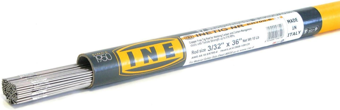 INETIG COPPER FREE ER70S-6 3 32 x Tube on Tig 10-Pound 36-Inch Max New York Mall 62% OFF R