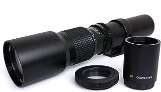 Opteka 500/1000mm High Definition Preset Telephoto Lens for Nikon D5, D4s, D4, D3x, Df, D810, D800, D750, D610, D500, D7500, D7200, D7100, D5600, D5500, D5300, D5200, D3400, D3300 Digital SLR Cameras