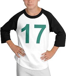 Teens Baseball Jersey John-havlicek Number 3/4 Sleeve Raglan Baseball T-Shirt