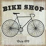 Feeling at home Imagen sobre Lienzo con Caja Americana Tienda de Bicicletas Mullan Impresion enmarcada con Marco Juegos y Deportes Cuadrado 68_X_68cm